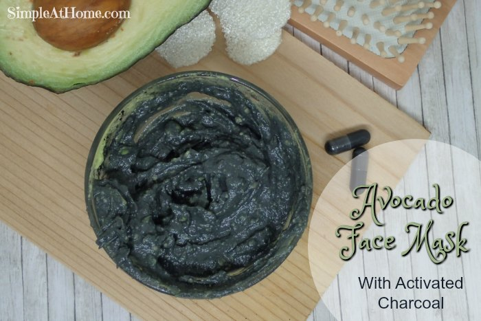 Avocado Face Mask With Activated Charcoal